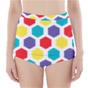 Hexagon Pattern  High-Waisted Bikini Bottoms View1