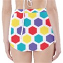 Hexagon Pattern  High-Waisted Bikini Bottoms View2