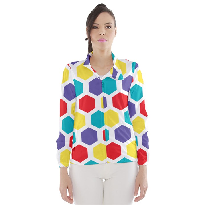 Hexagon Pattern  Wind Breaker (Women)