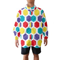 Hexagon Pattern  Wind Breaker (Kids)