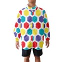 Hexagon Pattern  Wind Breaker (Kids) View1