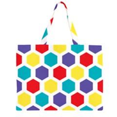 Hexagon Pattern  Large Tote Bag