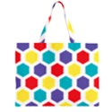 Hexagon Pattern  Large Tote Bag View2