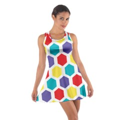Hexagon Pattern  Cotton Racerback Dress