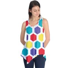 Hexagon Pattern  Sleeveless Tunic
