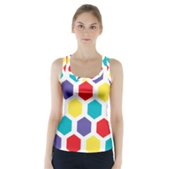 Hexagon Pattern  Racer Back Sports Top