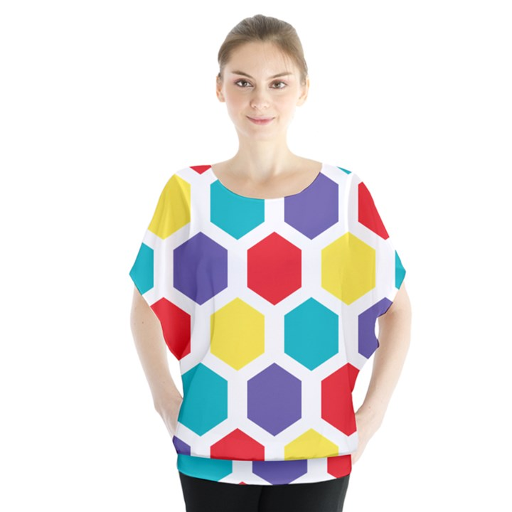 Hexagon Pattern  Blouse