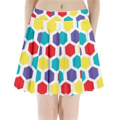 Hexagon Pattern  Pleated Mini Skirt