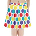 Hexagon Pattern  Pleated Mini Skirt View1