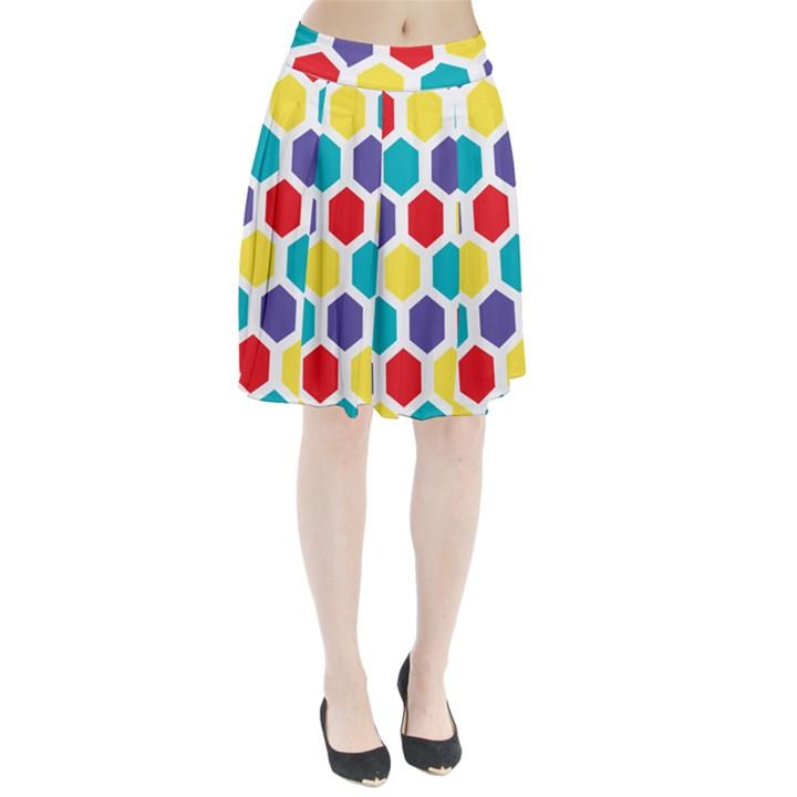 Hexagon Pattern  Pleated Skirt