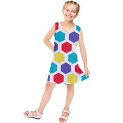 Hexagon Pattern  Kids  Tunic Dress