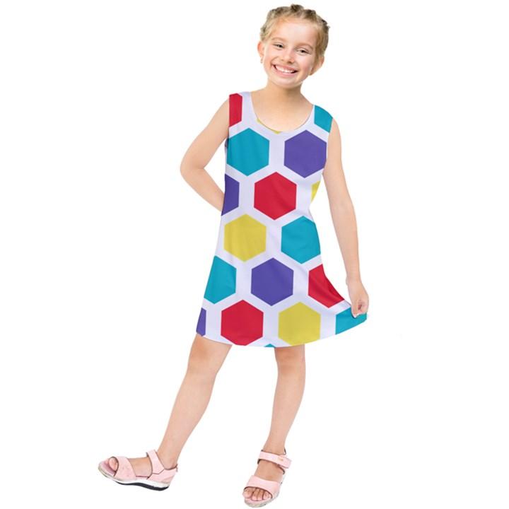 Hexagon Pattern  Kids  Tunic Dress