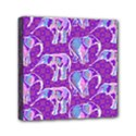 Cute Violet Elephants Pattern Mini Canvas 6  x 6  View1