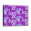 Cute Violet Elephants Pattern Canvas 10  x 8  View1