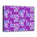 Cute Violet Elephants Pattern Canvas 14  x 11  View1