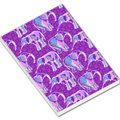 Cute Violet Elephants Pattern Large Memo Pads
