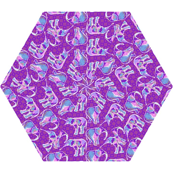 Cute Violet Elephants Pattern Mini Folding Umbrellas