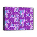 Cute Violet Elephants Pattern Deluxe Canvas 16  x 12   View1