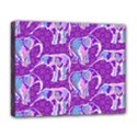 Cute Violet Elephants Pattern Deluxe Canvas 20  x 16   View1
