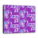 Cute Violet Elephants Pattern Deluxe Canvas 24  x 20   View1