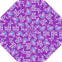 Cute Violet Elephants Pattern Golf Umbrellas