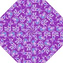 Cute Violet Elephants Pattern Hook Handle Umbrellas (Medium) View1