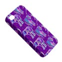 Cute Violet Elephants Pattern Apple iPhone 4/4S Hardshell Case View5