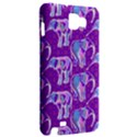 Cute Violet Elephants Pattern Samsung Galaxy Note 1 Hardshell Case View2
