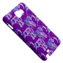 Cute Violet Elephants Pattern Samsung Galaxy Note 1 Hardshell Case View5