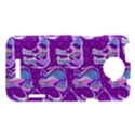 Cute Violet Elephants Pattern HTC One X Hardshell Case  View1