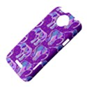 Cute Violet Elephants Pattern HTC One X Hardshell Case  View4