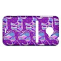 Cute Violet Elephants Pattern HTC Evo 4G LTE Hardshell Case  View1