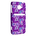 Cute Violet Elephants Pattern HTC Evo 4G LTE Hardshell Case  View2