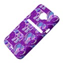 Cute Violet Elephants Pattern HTC Evo 4G LTE Hardshell Case  View4