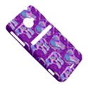 Cute Violet Elephants Pattern HTC Evo 4G LTE Hardshell Case  View5