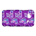 Cute Violet Elephants Pattern HTC Droid Incredible 4G LTE Hardshell Case View1