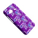 Cute Violet Elephants Pattern HTC Droid Incredible 4G LTE Hardshell Case View5