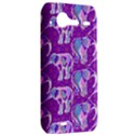 Cute Violet Elephants Pattern HTC Incredible S Hardshell Case  View2