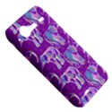 Cute Violet Elephants Pattern HTC Incredible S Hardshell Case  View5