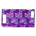 Cute Violet Elephants Pattern Motorola DROID X2 View1