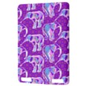 Cute Violet Elephants Pattern Kindle Touch 3G View3