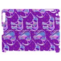 Cute Violet Elephants Pattern Apple iPad 2 Hardshell Case (Compatible with Smart Cover) View1