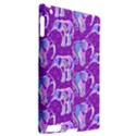 Cute Violet Elephants Pattern Apple iPad 2 Hardshell Case (Compatible with Smart Cover) View2