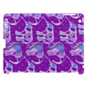 Cute Violet Elephants Pattern Apple iPad 3/4 Hardshell Case (Compatible with Smart Cover) View1