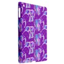 Cute Violet Elephants Pattern Apple iPad 3/4 Hardshell Case (Compatible with Smart Cover) View2