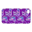 Cute Violet Elephants Pattern Apple iPhone 4/4S Premium Hardshell Case View1