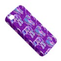 Cute Violet Elephants Pattern Apple iPhone 4/4S Premium Hardshell Case View5