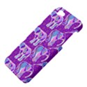 Cute Violet Elephants Pattern Apple iPhone 5 Hardshell Case View4