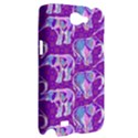 Cute Violet Elephants Pattern Samsung Galaxy Note 2 Hardshell Case View2