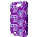 Cute Violet Elephants Pattern Samsung Galaxy Note 2 Hardshell Case View3